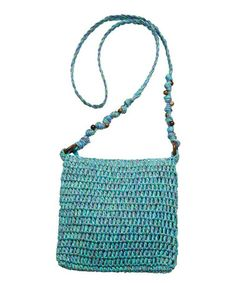 White Bead-Strap Crossbody Bag #zulily #zulilyfinds