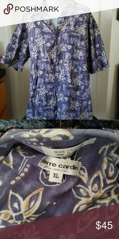 49bce909e Pierre Cardin Men's Hawaiian Print Shirt Size XL This is a great vintage  shirt in excellent