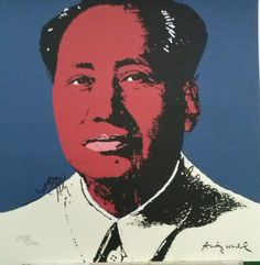 ANDY WARHOL - 'Chairman Mao' - large hand numbered vintage lithograph - c1986 (CMOA limited edition)