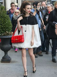 Lilly Collins. Looking flawless with fabulous hair!