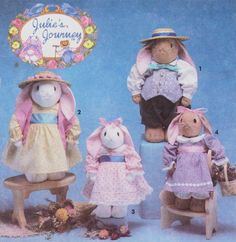 90s Simplicity Crafts Sewing Pattern 7745 Stuffed by CloesCloset, $8.00