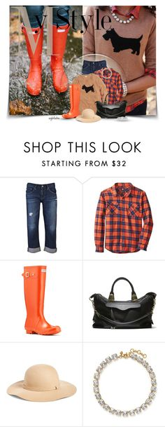 """""""My New Boots!!"""" by angkclaxton ❤ liked on Polyvore featuring AG Adriano Goldschmied, Quiksilver, Hunter, Steve Madden, Phase 3, J.Crew, Henri Bendel, women's clothing, women's fashion and women"""