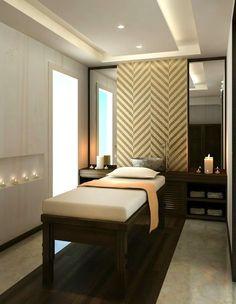 Luxury spa treatment room