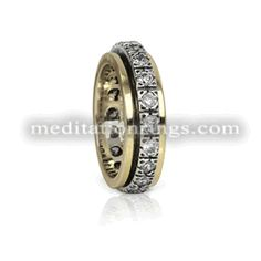 Gorgeous eternity band spinning ring from MeditationRings Meditation Rings, Bling Jewelry, Jewellery, Spinner Rings, Pretty Rings, Eternity Bands, Spinning, Cool Things To Buy, Gold Rings