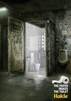The paper makes the toilet. Advertising Agency: Leo Burnett, Berlin, Germany Chief Creative Officer: Andreas Pauli Executive Creative Director: A Ads Creative, Creative Posters, Creative Advertising, Advertising Design, Creative Director, Advertising Poster, Advertising Campaign, Best Marketing Campaigns, Ad Campaigns