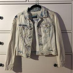 Zara denim jacket Acid washed Zara denim jacket- size is small- very good condition. Zara Jackets & Coats Jean Jackets