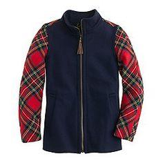 Kinda love.. Colorblock Shetland wool jacket.