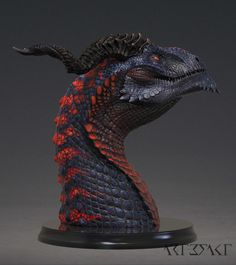 ArtStation - Ssathraz - Dragon Bust painted, Winton Afric