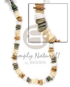 Philippines Sq Cut Khaki Combination White Unisex Necklace Wholesale Jewelry