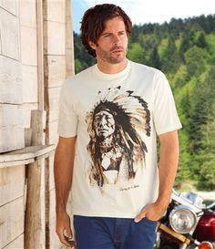 Tee-Shirt Sérigraphié #atlasformen #western #cowboy #discount #collection #shopping