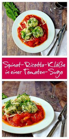 Spinat-Ricotta-Klöße, Tomaten-Sugo, italienisch, Feierabendküche, einfach, lecker