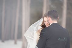 When lens fog works out perfectly.  Winter wedding in Kenora, Ontario.