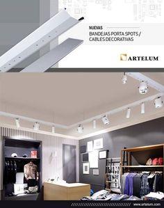 Presentamos las nuevas bandejas porta spots / cables decorativas de ARTELUM. Para conocerlas ingresá a www.iluminacion.net