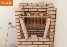 CONSTRUTORA SOUSA: Churrasqueira de tijolos, em 22 passos. Barbecue, Outdoor Structures, Masonry Bbq, Bricks, Cookers, Ovens, Creative Crafts, Houses, Creativity