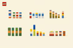 Can you tell which of your favorite characters are by their colors? Check out these classic LEGO building blocks strategically designed by color blocking, to create minimalistic iconic cartoon characters.