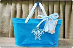 Adorable personalized tote from HKL Designs