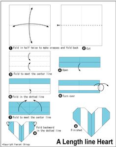dollar heart origami instructions