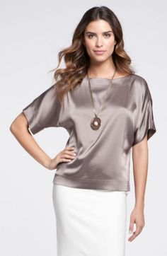 Elegant yet simple satin blouse outfit ideas (14)