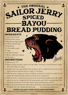 Sailor Jerry's...hands down the best spiced rum. Can't be bad in bread pudding either.
