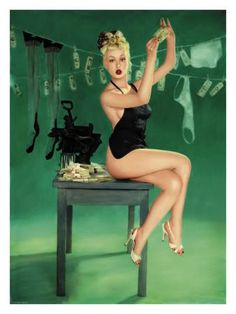 Vintage pinup girl. I love this one.