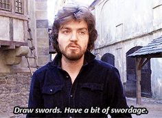 Have a bit of swordage. Tom, is that even a real word?