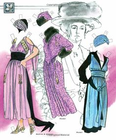 Couture: The Extravagance of the 1910s Paper Dolls: Jim Howard, Paper Dolls, Jenny Taliadoros: 9781935223955: Amazon.com: Books