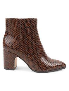 $69.99. BCBGENERATION Boot Stein Snakeskin-Embossed Booties #bcbgeneration #boot #shoes Bcbgeneration, Slide Sandals, Snake Skin, Memory Foam, Knee Boots, Tory Burch, Booty, Chic, Heels