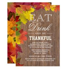 Thanksgiving Invitation Printable Thanksgiving Invite