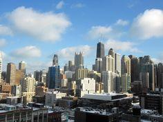 buildings skyline Chicago