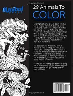 Animals Coloring Book For Adults By Amanda Neel And Happy 2015 Paperback
