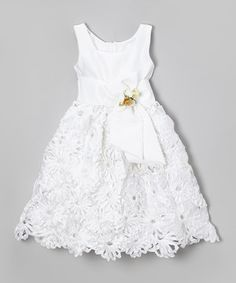 Look what I found on #zulily! White Floral Sash Dress - Infant, Toddler & Girls by Kid Fashion #zulilyfinds
