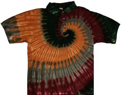 This item is tied in wide spirals and dyed in camouflage colors. A wonderful tie dye collared shirt available in all adult sizes. Tie Dye Shirts, Collar Shirts, Collars, Spiral Tie Dye, Camouflage Colors, Spirals, Tie Dyed, Accessories, Beautiful