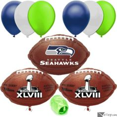 Seattle Seahawks NFL Super Bowl Football Balloon Decorating ,