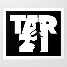 """TAR-21"" art print @ http://society6.com/VectorVectoria/TAR-21_Print#1=45"