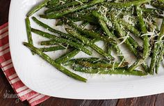 Roasted Parmesan Green Beans- my whole family devoured this dish. This recipe is a keeper.
