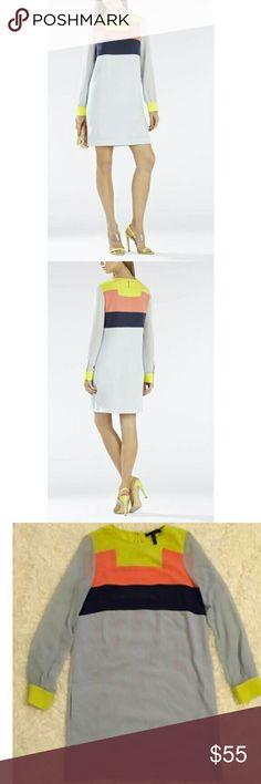 "Bcbg Max Azria ""Cally"" Color-blocked Tunic Dress Lined. Worn twice. BCBGMaxAzria Dresses"