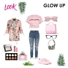 """Outfit Inspiration // Ripped Jeans And Pink Shirt"" by peltomakipauliina on Polyvore featuring River Island, Givenchy, Tod's, Beats by Dr. Dre, NYX, Burberry, Charlotte Russe, Christian Dior and Nika"