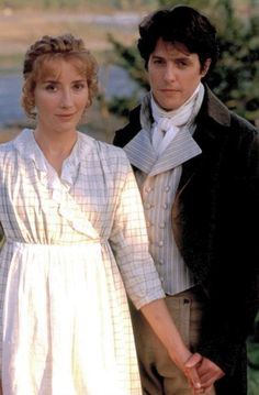 Emma Thompson and Hugh Grant, 'Sense and Sensibility' The film is set in southwest England from Jane Austen Movies, Little Dorrit, Films Cinema, Becoming Jane, Hugh Grant, Emma Thompson, Pride And Prejudice, Great Movies, Movie Tv