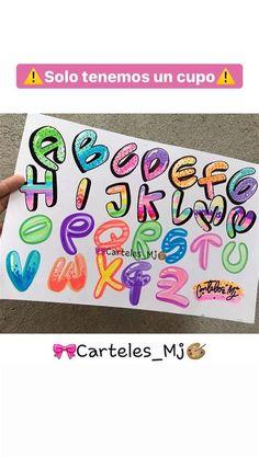 Bullet Journal Font, Journal Fonts, Bullet Journal School, Lettering Brush, Hand Lettering Alphabet, Lettering Design, Graffiti Alphabet Styles, Graffiti Text, Bubble Letters