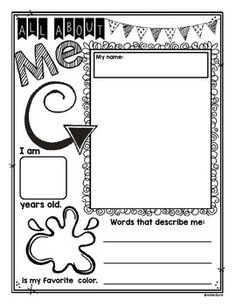 Kindergarten & First Grade Memory Book!  Sweet prompt pages to remember the school year.  Many pages can be used throughout the year.  This makes an adorable keepsake  as well as a portfolio of growth in writing.  As always, it's made to save your money, ink, and most importantly, your time! Happy teaching! $