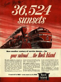 Rock Island Rail Road - 36,524 Sunsets Poster
