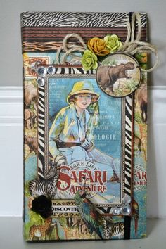 Elite4U ~4X8 Graphic 45 Safari Adventure Scrapbook Album Handmade Premade #Handmade