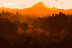 -- Orange forest -- by 0l-Fox-l0