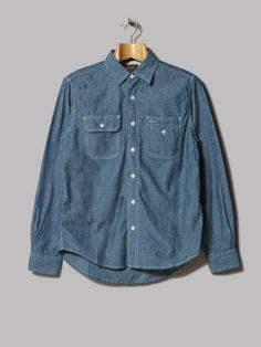 Beams Plus Work Shirt (Chambray)