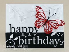 Memory Box dies-  Grand Happy Birthday, Norwich Corner and Lunette Butterfly dies