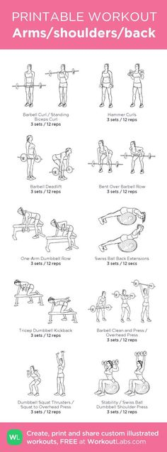 Workout arms and back workout at home, back fat exercises at home, upper ba Fun Workouts, At Home Workouts, Arm Workout At Gym, Free Weight Arm Workout, Upper Body Weight Workout, Gym Workouts To Lose Weight, Arm Workout Women With Weights, Gym Workouts Schedule, Gym Workout Plans
