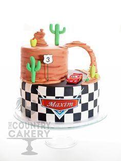 Lightening McQueen on Cake Central<br> Disney Cars Cake, Disney Cars Party, Disney Cakes, Disney Pixar, Cake Central, Cars Theme Cake, Car Cakes For Boys, Lightning Mcqueen Cake, Lightening Mcqueen Birthday Cake