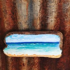 Beautiful Hand Painted Ocean Scene on an Amazing Piece of