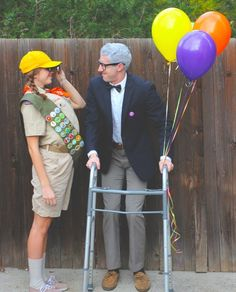 Carl and Russell from Up | 27 Insanely Creative Halloween Costumes Every Movie Lover Will Want