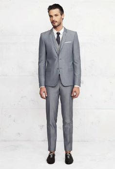 costume bleu gris Kooples Kooples, Lookbook, Stylish Men, Suit Jacket, Costumes, Formal, Wedding Dresses, My Style, Pants